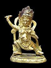 Rare Gilt Bronze Deity