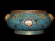 Antique Rare Cloisonne Censer, Qianlong Mark