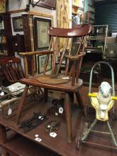 19th. C. painted ash Gibson chair.