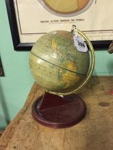 World globe on stand Made in England.