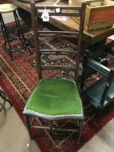 Edwardian inlaid mahogany nursing chair.