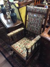 Victorian walnut American rocking chair.