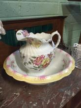 Victorian ewer and basin.