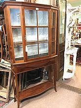 Edwardian inlaid mahogany display cabinet on stand PHELAN & CO LIMITED DUBL