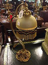 Art Deco gilded metal desk lamp.