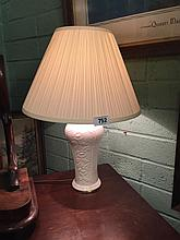 Modern Belleek lamp.