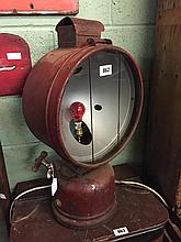 Large early 20th. TILLY HENDON lamp converted to electric.