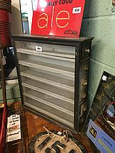 19th. c. specimen cabinet with glazed door.