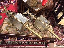 Pair of trap lamps.