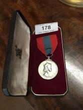Silver Queen's medal FAITHFUL SERVICE.