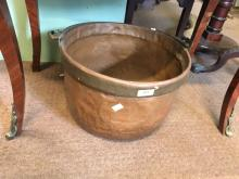 Large copper and brass  coal bucket.