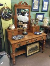 Victorian satinwood dressing table.