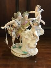 19th. C. Porcelain figural group.