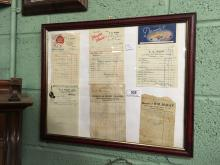Montague of COOTEHILL Shop invoices  - MC KAY ADAMS EWART CARTONS and MOORE