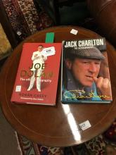 JOE DOLAN Offical Biography and signed by Joe  and JACK CHARLETON signed by
