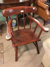 19th. C. painted hedge chair.