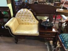 Mahogany telephone seat.