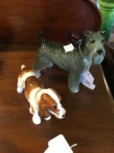 Beswick model of a Wire Haired Terrier and Royal Doulton model of a Springe