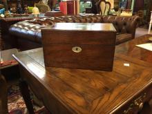 Victorian mahogany dressing table box.