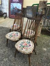 Set of four 1980's ERCOL chairs.
