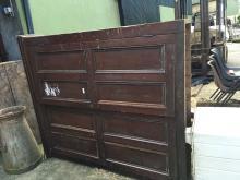 19th. C. pine two door cupboard.