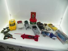 BOX LOT INCLUDING CAR MODELS - FERRARI, MERCEDES 190 SL