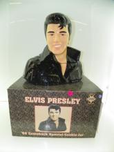 ELVIS PRESLEY COOKIE JAR WITH ORIGINAL BOX - '68 COMBAC