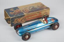 Tippco Mercedes No. 22, Litho. Tin Toy Race Car