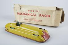 Chime Toy Products Litho. Tin Toy Race Car