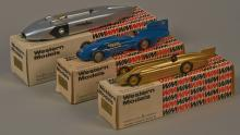 Lot of 3 - Western Models Die-Cast Toy Model Race Cars,