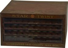 Vintage Star Twist Store Countertop Metal & Glass