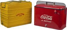 Lot of 2 Vintage Cola Coolers: