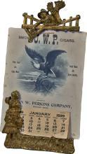 Smoke J.W.P. Cigars 1899 Cardboard Advertising Calendar