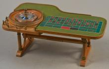 Miniature Roulette Wheel Gambling Table Display