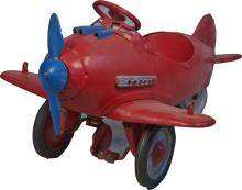 Early Red Carnival Child's Pedal Car Airplane