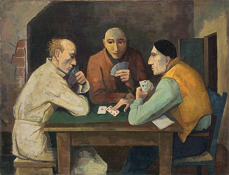 """Karl Hofer """"Kartenspieler"""