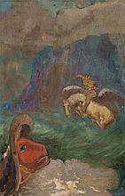 Odilon Redon,  Roger et Angélique  (auch  Saint Ge