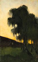 Lesser Ury,  Landschaft mit Weißbirken . Um 1890/1
