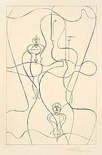 Oskar Schlemmer,  Figurenplan , Signed, Lithograph