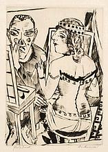 Max Beckmann,  Garderobe , Signed, inscribed and t