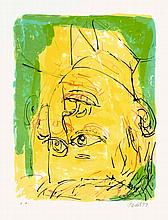 Georg Baselitz, Dreimal Portrait, Signed and dated