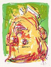 Georg Baselitz, Portrait als Pionier, Signed and d