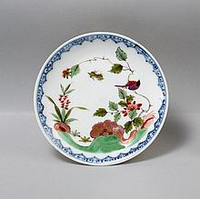 Doll's service plate with coloured Kakiemon decora