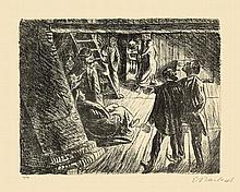 Ernst Barlach,  Die Beichte , Signed, Lithograph o