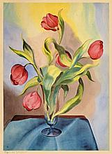 Christian Arnold,  Tulpen , Monogrammed in pencil