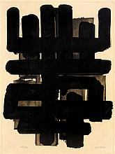 Pierre Soulages,  Lithographie No. 3 , Signed, Lit