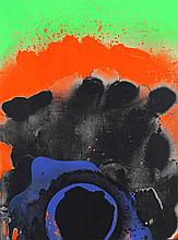 Otto Piene,  Black Hawaii , Signed and dated, Colo