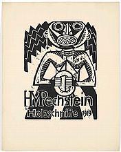 Hermann Max Pechstein,  Prinzessin , Signed, Woodc
