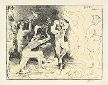 Pablo Picasso,  La danse des faunes , Signed, Lith
