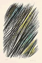 Hans Hartung,  L19 , Signed, Colour lithograph on